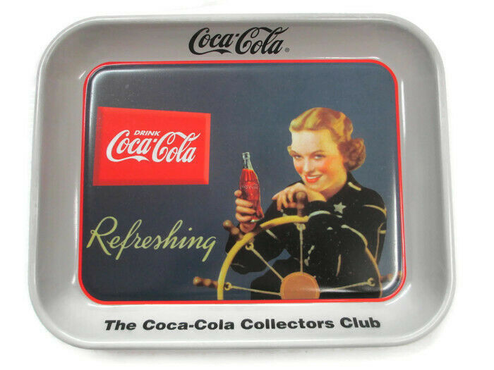 Primary image for Coca-Cola 24 National Collectors Convention Tray Woman at Wheel of Boat