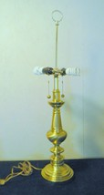 """Brass Double Table Lamp 35"""" VTG Hollywood regency Westwood Classic 1970'... - $97.99"""