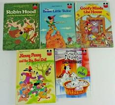 Lot of 5 Walt Disney World of Reading Books Dalmations Goofy Mickey Robi... - $14.14