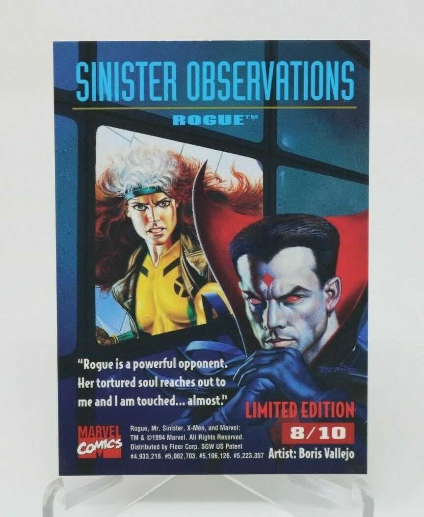 ROGUE 1995 X-MEN Fleer Ultra SINISTER OBSERVATIONS Chrome Insert Card #8 NM