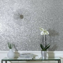Arthouse Sequin Sparkle Wallpaper in Silver Glitter 900900 029 34 sq feet - $49.49
