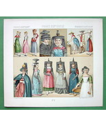 COSTUME 1880s France Saone & Loire Region - COLOR Litho Print by A. Racinet - $9.45