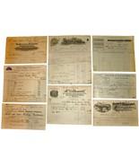 8 1901 MICHIGAN Billhead Document Receipts Electric Founder Iron Metal M... - $22.99