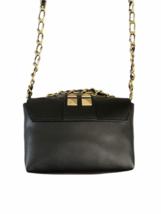 Valentino Black Leather Gold Stud Rockstud Small Glam Lock Crossbody Bag Purse image 4