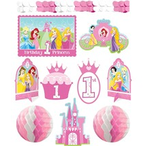 Disney Princess Cartoon Cute Kids First 1st Birthday Party Room Decorating Kit - $20.69