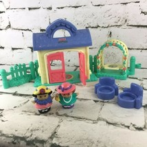 Fisher-Price Little People Garden Cottage Tea Party Set with  Swing And ... - $29.69