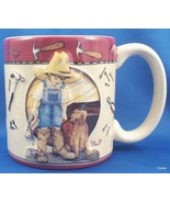 Burton and Burton Daddys Boots Coffee Mug 12 oz Ceramic Tools Little Boy... - $7.13