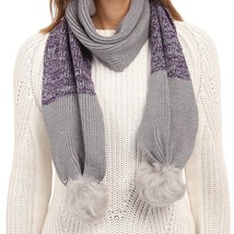 UGG Scarf Marled Knit Sequins Shearling Pom Poms NEW - $69.30