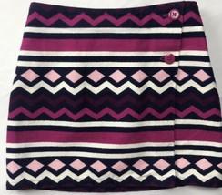 Gymboree Girls Sz 6 Tweed Fall Winter Skirt Pink Blue Purple White Geome... - £21.23 GBP