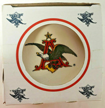 Vintage Anheuser Busch Four Eagle Coasters 24K Hand-Painted Gold Band 1996 - $26.00