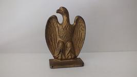 Emig Style Eagle Cast Iron Book End(1) Vint. Retro Patriotic American He... - $14.77