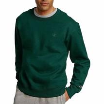 Champion Mens Powerblend Fleece Pullover Crewneck Sweatshirt Dark Green ... - $19.59