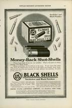 1919 US Cartridge Ad Black Shells Shotgun Lead Shot Hunting Shooting Gun - $9.99