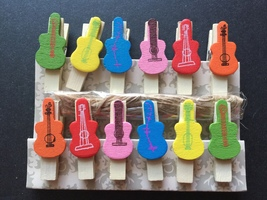 36pcs Birthday Party Decoration Favor,Wooden Clips Photo Paper Wooden Clothespin - $2.90