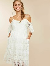 MOTHERHOOD MATERNITY COLD SHOULDER  CROCHET DRESS SIZE SMALL NEW - $39.59
