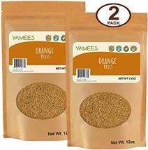 Yamees Dried Orange Peel – Orange Zest Dried – Orange Rinds – Grated Orange Peel
