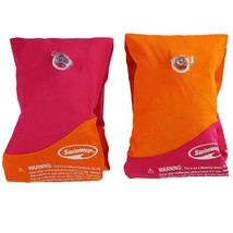 Pink and Orange Soft Swimmies Swimming Pool Arm Floats for Kids 3-5 Years - $15.58