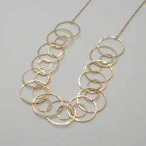 Choker Necklace Silver 925 Foil Gold with Circles by Maria Ielpo Made in Italy image 6