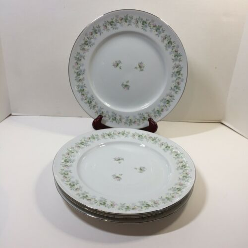 "Primary image for 4 Dinner Plates 10"" Forever Spring Johann Haviland Barvaria Germany Floral"