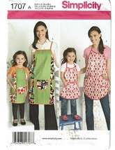 SIMPLICITY PATTERN 1707 CHILD'S AND MISSES' APRONS SIZE S-L - $5.00