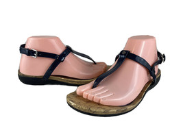Womens RALPH LAUREN KYA Black Slingback Thong Sandals SIZE 8.5 B - $29.58