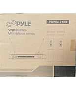 NEW Pyle PDWM 2130 Wireless FM Dual Frequency (2) Microphone Receiver Sy... - $33.15