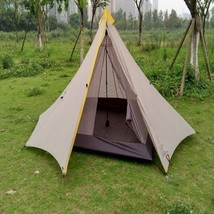 Large Tent Ultralight 3-4 Person Outdoor 20D Nylon Sides Silicon Coating... - $106.50