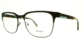 NEW PRADA VPR 57U ROU-1O1 MATTE DARK BROWN EYEGLASSES FRAME 56-18-140 P3... - $95.04