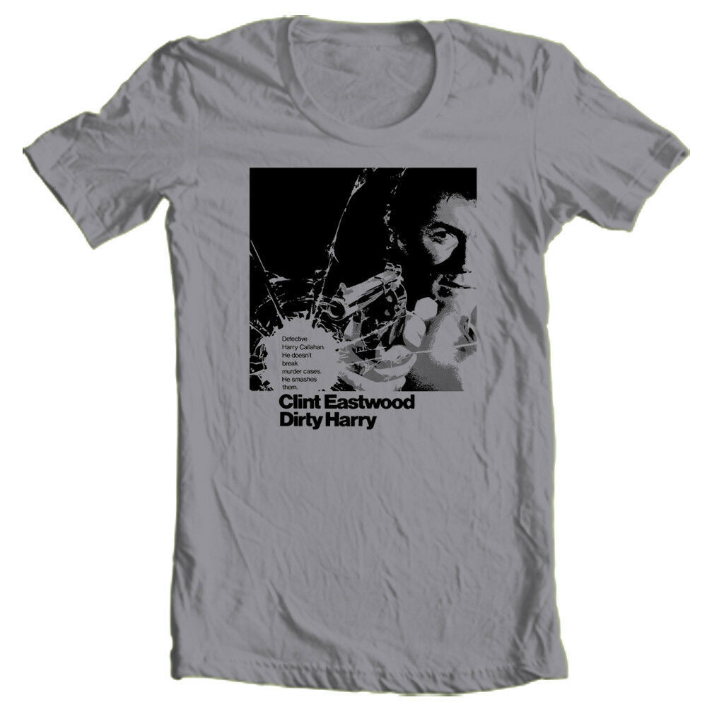Dirty Harry T-shirt Clint Eastwood retro 1970's Free Shipping cotton graphic tee