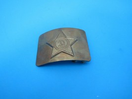"Vintage Soviet Russian Army Brass Belt Buckle 3"" x 2 1/4"" Military - $75.00"