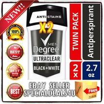 2pk Degree Men Ultraclear Black White 48hrs Antiperspirant Deodorant 2.7... - $29.99