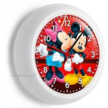 Mickey And Minnie Mouse Kissing In Love Wall Clock Baby Girls Boys Nursery Decor - $21.05