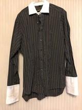Donald J. Trump Long Sleeve striped shirt Men's size 16.5 (34/35)Ships N... - $5.94