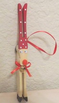 Handcrafted Clothespin Reindeer Ornaments Large... - $1.98