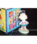 """5"""" Peanuts Lucy Porcelain Figurine With Box By Flambro Imports 1998 - $46.74"""