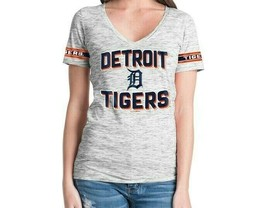 Detroit Tigers Womens New Era Space Dye V-Neck T-Shirt - Medium - NWT image 2
