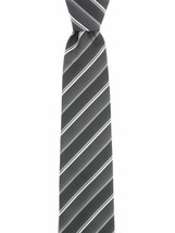 John Ashford Men's EDI Stripe Machine Washable Neck Tie Grey / Multi - $16.82