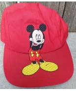 Mickey Mouse VTG Brim Logo Baseball Hat Cap Disney Unlimited - $20.00