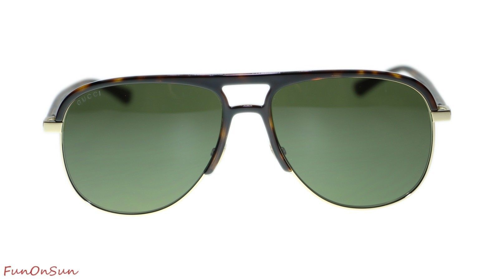 50f9b5d40f3d 10. 10. Previous. NEW Gucci Men's Sunglasses GG0292S 003 Havana Green Lens  Pilot 60mm Authentic. NEW ...