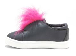 Cat & Jack Bambine Vella Nero Finto Rosa Pelliccia Basso Top Slip On Sneakers image 2