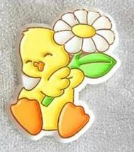 Hallmark Delightful  Duckling with Flower Brooch 1980s vintage - $12.30