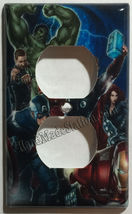 Captain America Iron Man Hulk marvel avengers Switch Wall Cover Plate Home decor image 2