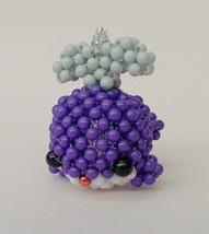 "Handmade #1 PURPLE Whale Round Beads Figure Strap 1.5"" x 2"" x 2"" H - $15.99"