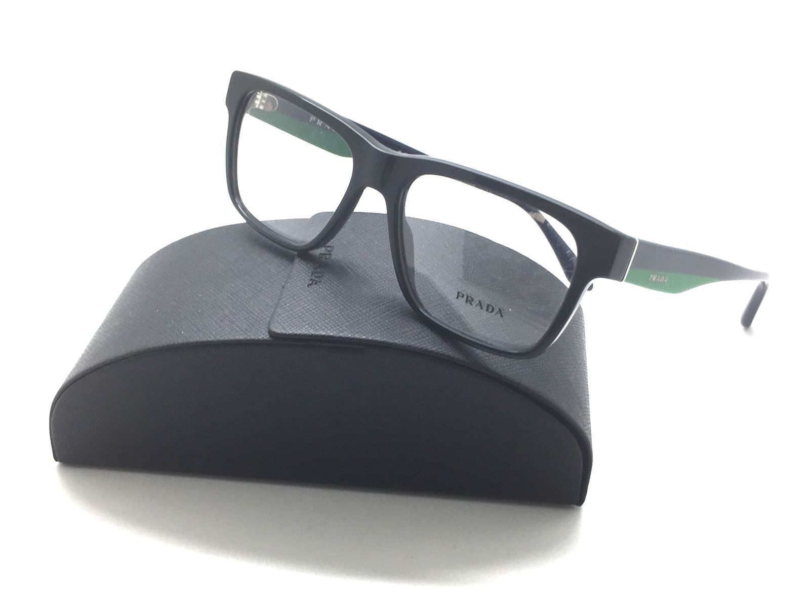 Prada Black Front/Navy arms/Green Eyeglasses VPR 16R 1AB 101 53 16 140 Acetate