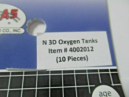 Atlas # 4002012 Oxygen Tanks 10 Pieces 3D Printed Accessories N-Scale image 2