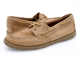 Sperry Top Sider Womens 7M Brown Leather Two Eye Slip On Boat Shoes 9779729 - $27.99