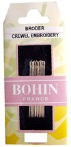Bohin Crewel Embroidery Needles, Size 10, 15 Per Package - $6.94