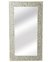 Anthropologie Horchow Bone Inlay French Modern Moroccan Wall Mirror Gray... - $494.00