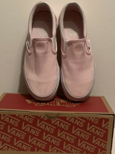 Vans Classic Blush Pink Slip On Loafers Slides Skate Authentic Womens 6.5