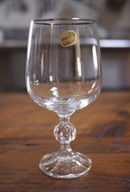 Vintage Bohemia Claudia Crystal Czechoslovakia Water Wine Glass Goblet 6... - $24.99